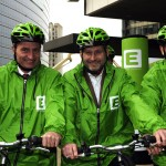 I Commissari Gunther Oettinger, Janez Potocnik e Johannes Hahn all'evento E-bike, Courtesy of Scorpix