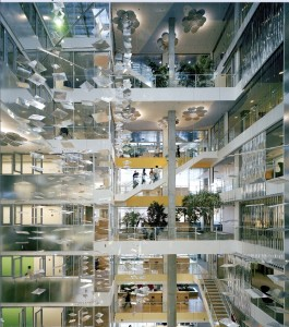 Genzyme Headquarter, Cambridge (MA), fotografia di Anton Grassl, Courtesy of Studio Behnisch