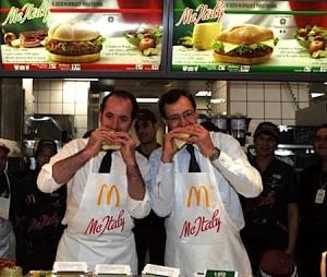 Il Ministro Zaia e l'AD di McDonald's Italia alla presentazione del McItaly, Courtesy of Dissapore.com