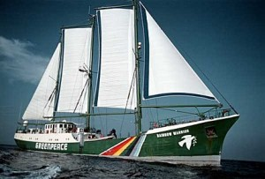 Il veliero Rainbow Warrior, Courtesy of Greenpeace.org