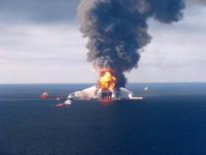 L'incendio della piattaforma BP, Courtesy of ANSA