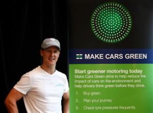 Michael Schumacher, testimonial della campagna Make Cars Green