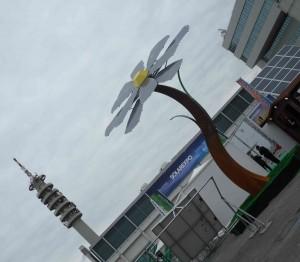 Il piazzale esterno di Solar Expo 2010 alla Fiera di Verona
