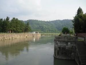 La presa del Canale Cavour nel Po