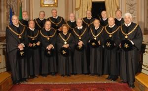 I giudici della Corte Costituzionale