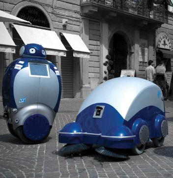 DustBot, Courtesy of Paolo Dario & Barbara Mazzolai