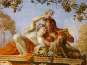 Il dio Pan in un affresco alla Reggia di Caserta