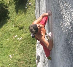 Manolo su una parete a Feltre, Courtesy of Montagna.org