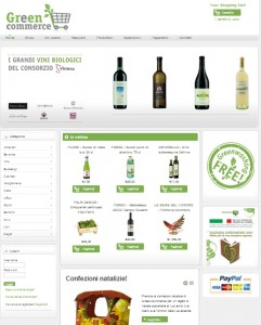 Greencommerce, preview del sito