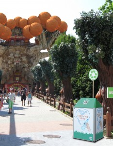 Magic file cestino separatore a Gardaland