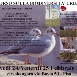 Corso biodiversità urbana Pisa