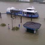 Il chiosco GTT sommerso dal fiume