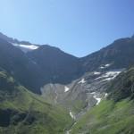 Il ghiacciaio in ritirata al Sustenpass