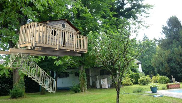 Sullalbero la bioedilizia sale tra le foglie - Come costruire una casa sull albero ...