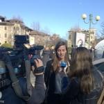 Marie Bolloré intervistata dalla stampa torinese, Foto di Greenews.info