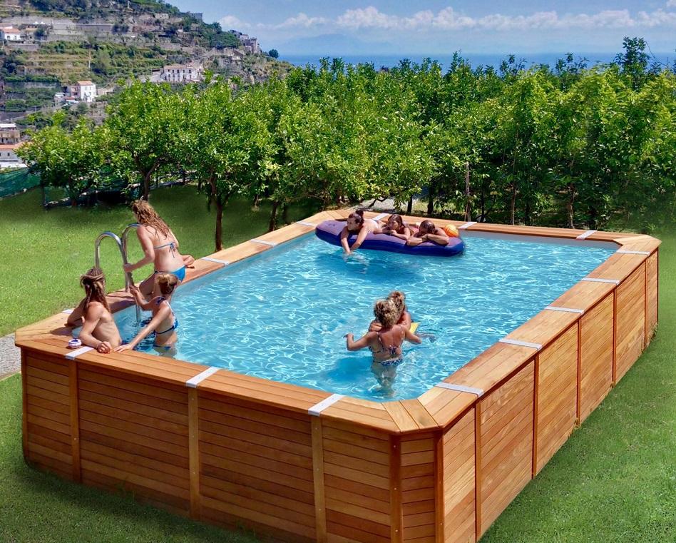 Piscine in legno fuori terra piscina fuori terra con for Piscina fuori terra con soppalco