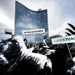 Arctic Protest at OMV Headquarters in Vienna