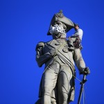 Nelson's Column Pollution Mask Action in London