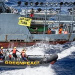 Activists Confront Supply Vessel Explorer II in the Indian Ocean