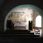 L'altare della cappella di San Sebastiano