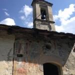 L'esterno della cappella di San Sebastiano in Fr. Vernetti