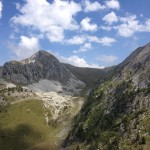 Il Colle Esischie visto dal sentiero verso il Colle del Mulo