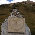 """Targa della gara """"La Fausto Coppi"""" del 2007 al Colle Esischie"""