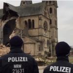 La polizia per garantire lo svolgimento della demolizione a Immerath