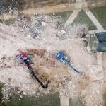 La fase finale della demolizione della chiesa di Immerath