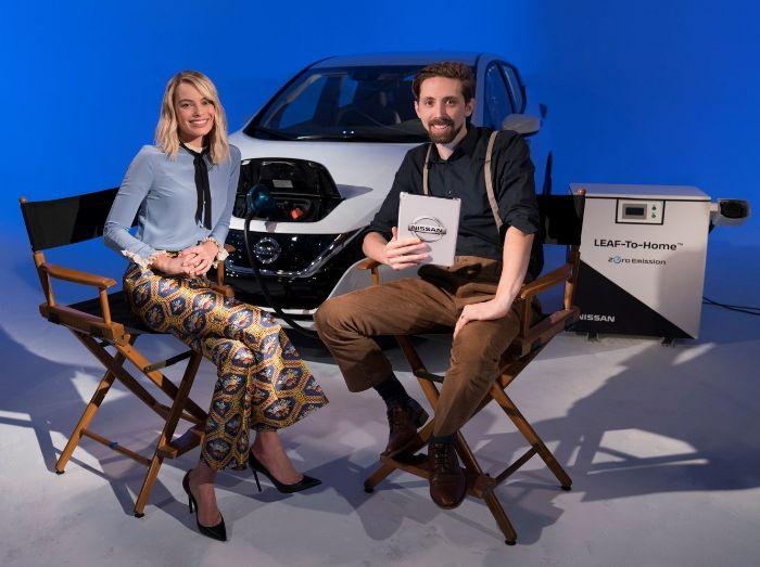 La prima diretta Facebook alimentata dall'elettrica — Nissan Leaf